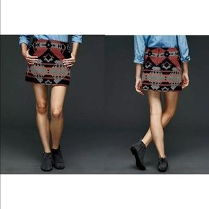 Gap Wool Southwesten Aztec Native Boho Skirt E22